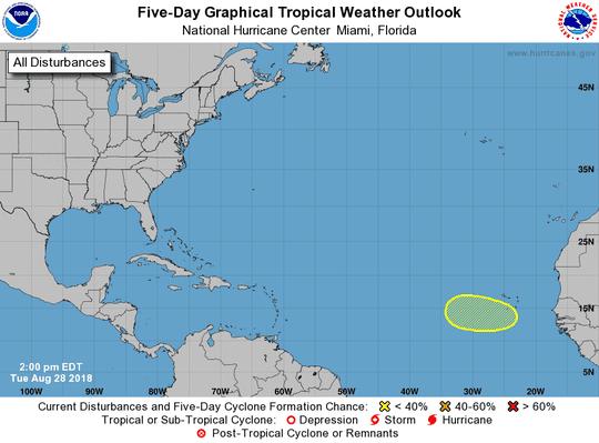 Tropical wave 2 p.m. Aug. 28, 2018