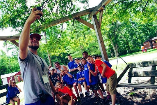 Blue Bandits had fun during a photo scavenger hunt during the Southwest Council's Camp YEY (Youth Empowering Youth) at Camp Edge in Alloway.