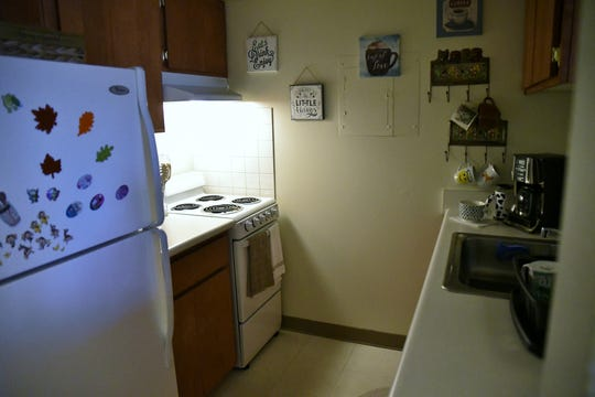 Town Meadows senior living facility resident Josephine Moore's kitchen.