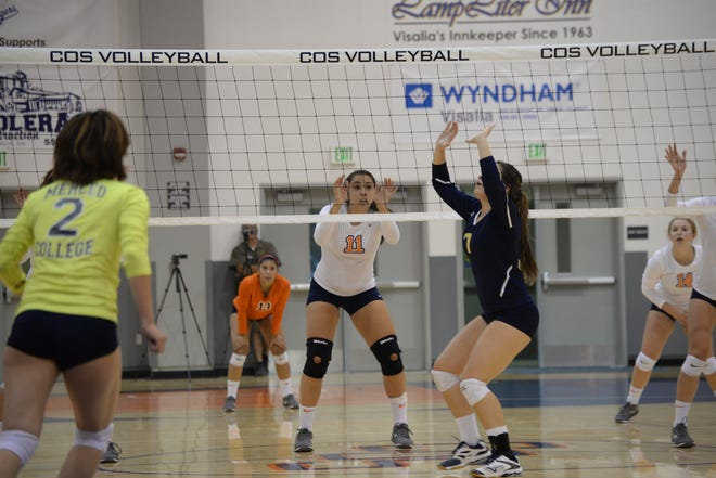 COS returns 6-foot middle blocker Cassidy Dolin.