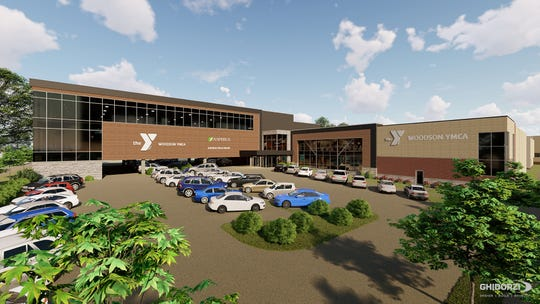 A view of the newly proposed renovations and additions to the Woodson YMCA in downtown Wausau.