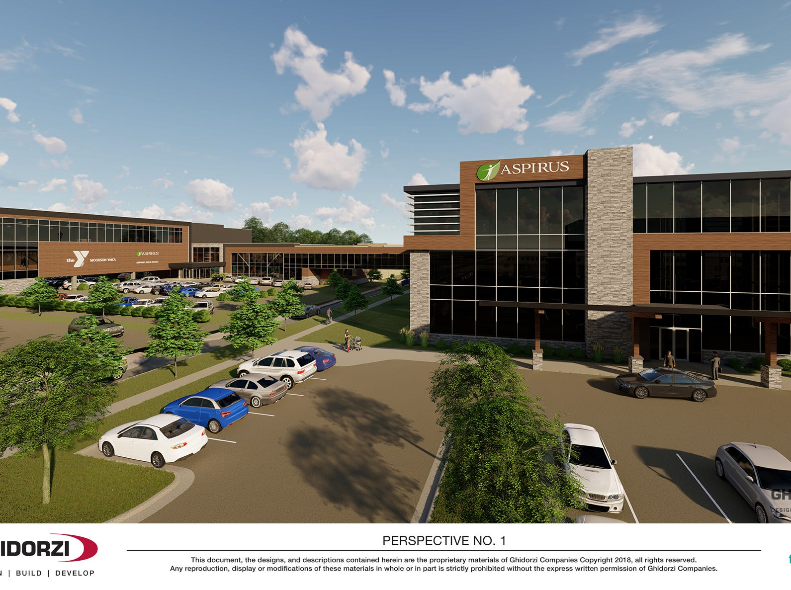 The proposed Aspirus clinic in downtown Wausau.