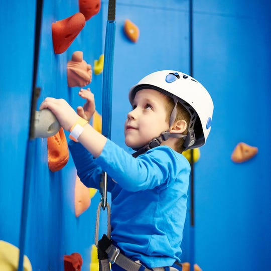 mp Bullowa offers its campers a 32-foot climbing wall with four lanes — perfect for every age and skill level.