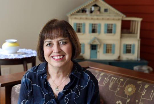 Carol Evans, chief relationship officer of Respectful Exits, a nonprofit which seeks to shift the way corporations and individuals think about retirement, at home where she works remotely Aug. 27, 2018 in Ossining.