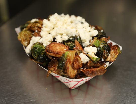 Fried brussels sprouts at The Souvlaki Truck on Central Park Avenue in Yonkers, Aug. 28, 2018.