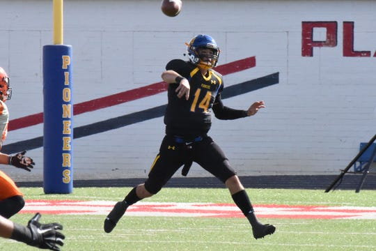Crowell's Mitchell Parsley threw for 1,726 yards and 12 TDs as a junior at Wayland Baptist.