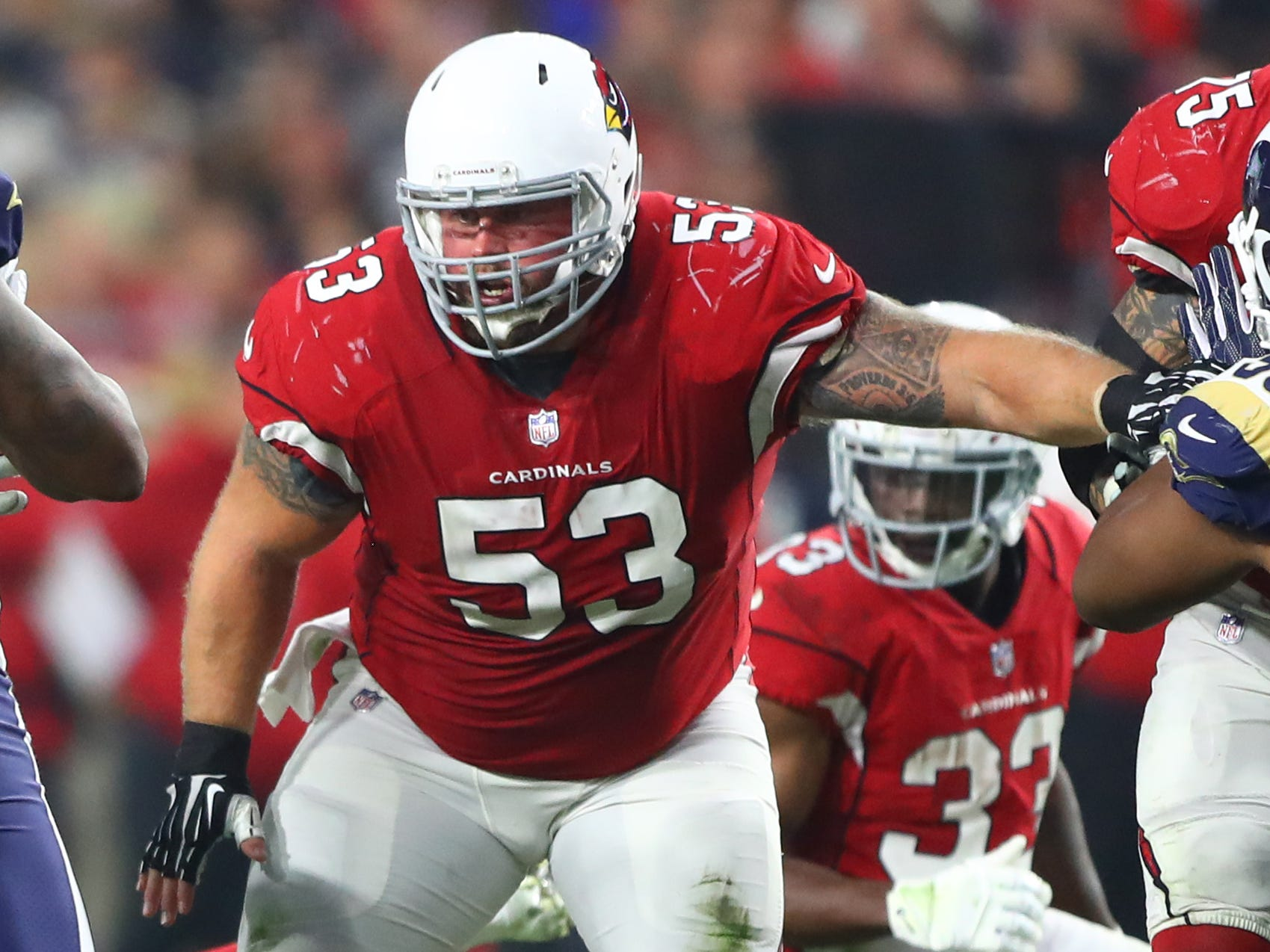 A.Q. Shipley, C, Arizona Cardinals (torn ACL, out for season)