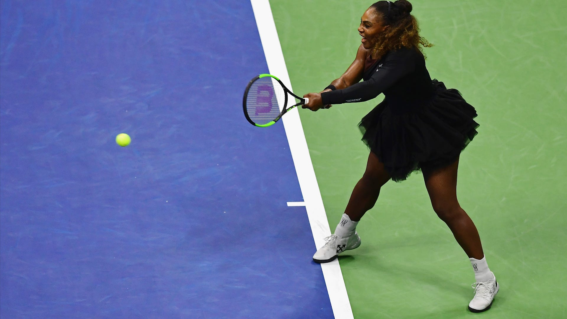 54591988ce4 Serena Williams stuns in biker jacket and tulle skirt at US Open