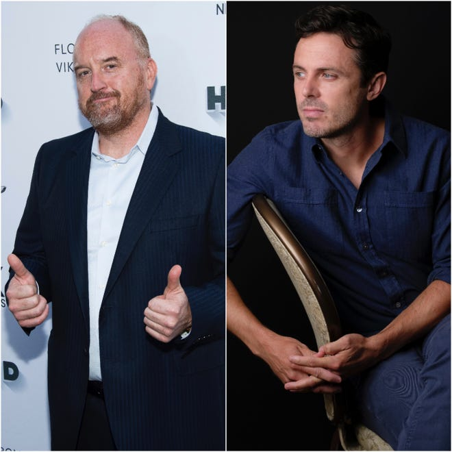 Louis C.K. began performing standup over the weekend while Casey Affleck has a new film out.