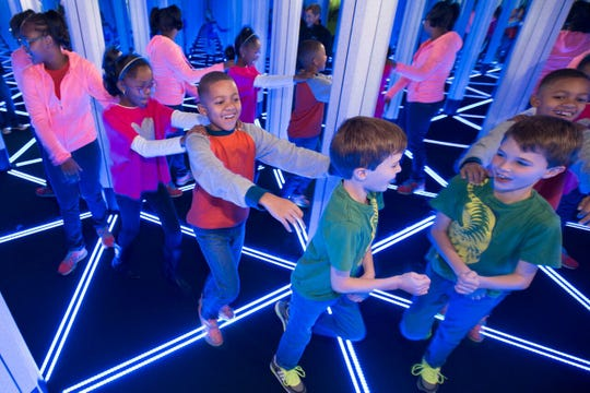 """""""A Mirror Maze,"""" is the Arizona Science Center's current exhibition and explores math and patterns in nature."""