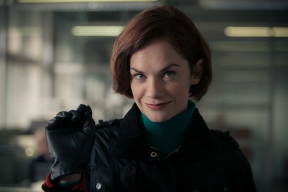 "Alice Morgan (Ruth Wilson) is a murderous psychopath and detective's confidante in the BBC cop show ""Luther."""