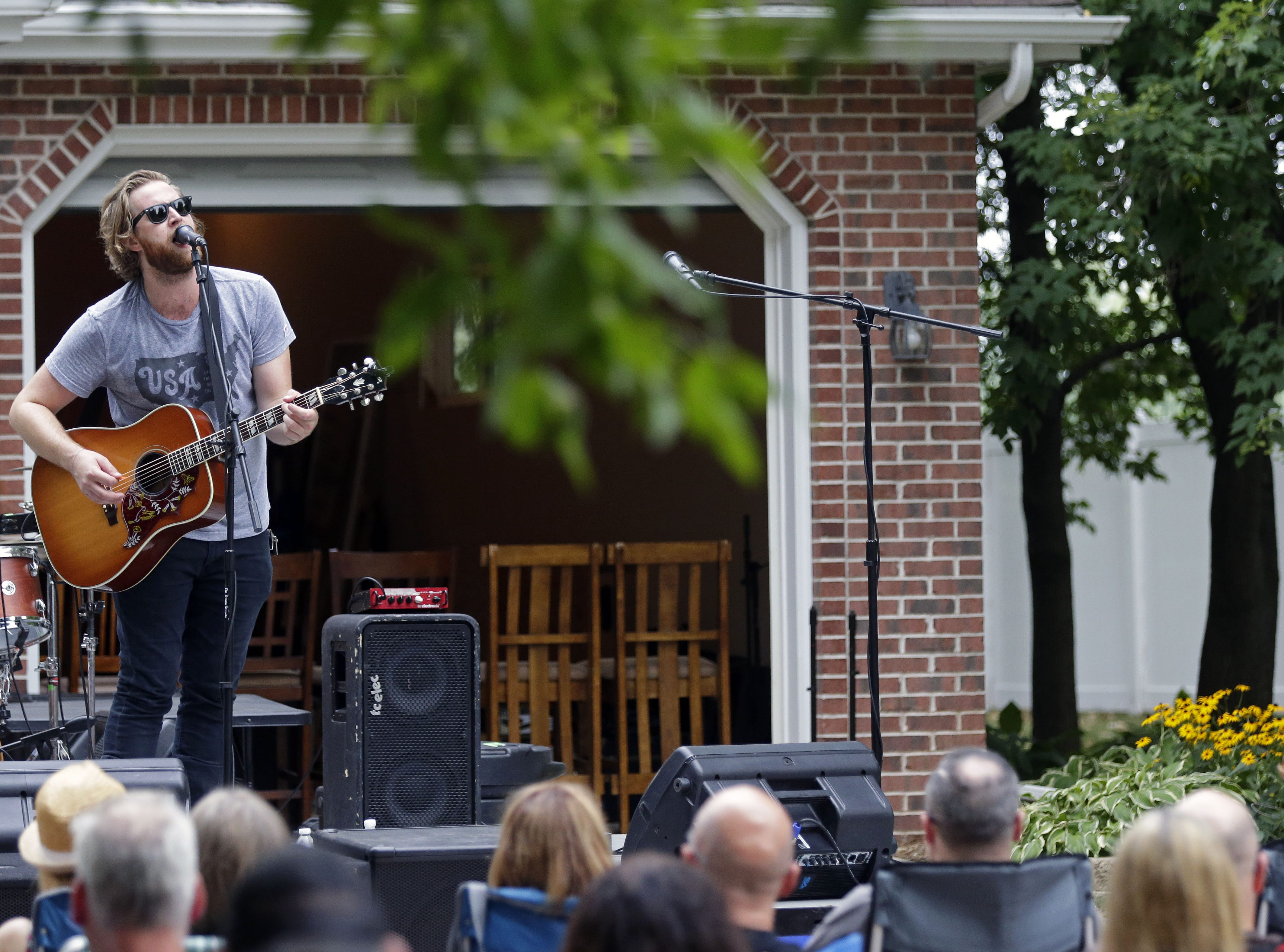 Carter Hulsey performs at the home of Todd Van Hammond on Aug. 26 in Appleton.