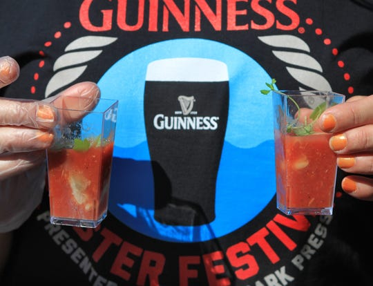 Oyster shooters are served during a past Red Bank Guinness Oyster Festival. This year's event takes place Sept. 30.