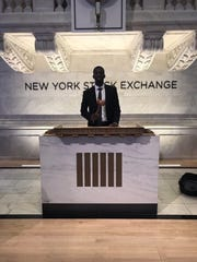 Mike Nzei at the New York Stock Exchange