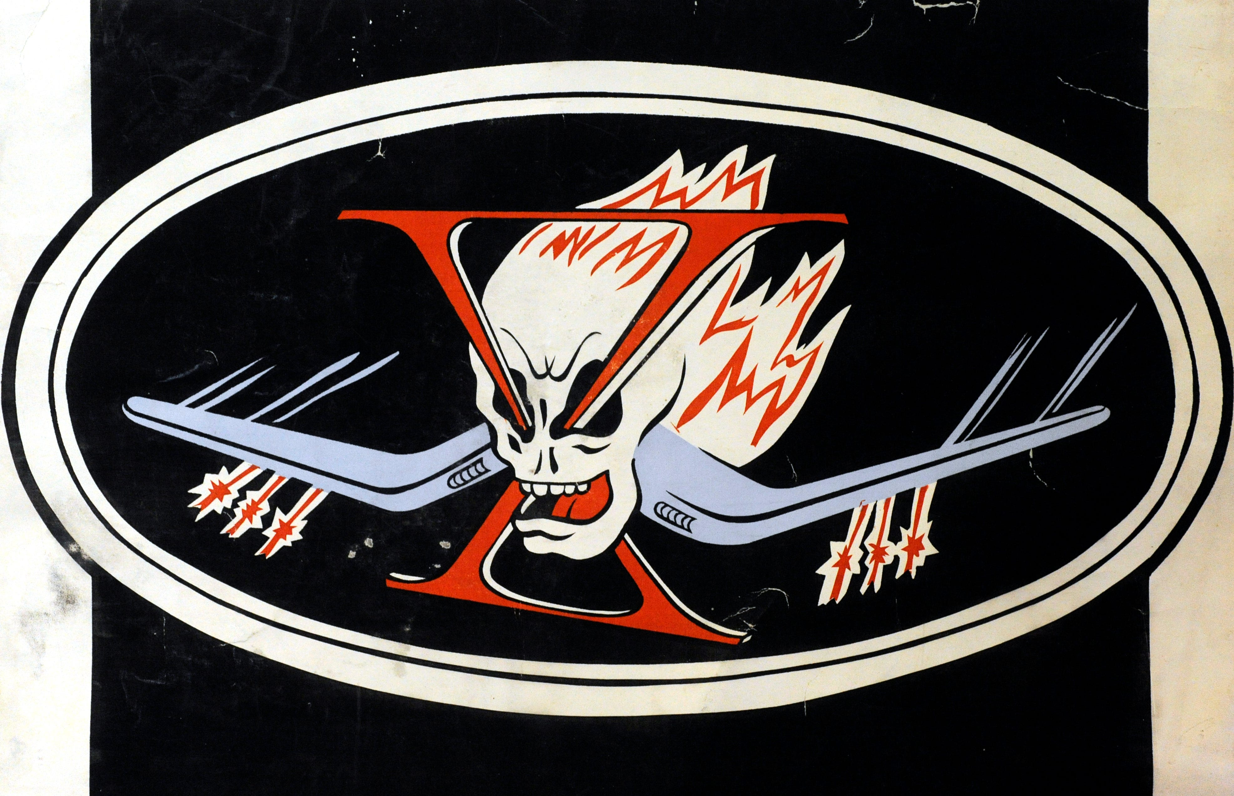 The insignia for VBF-10, the fighter-bomber squadron Wes Hays was assigned to aboard the USS Intrepid during WWII.
