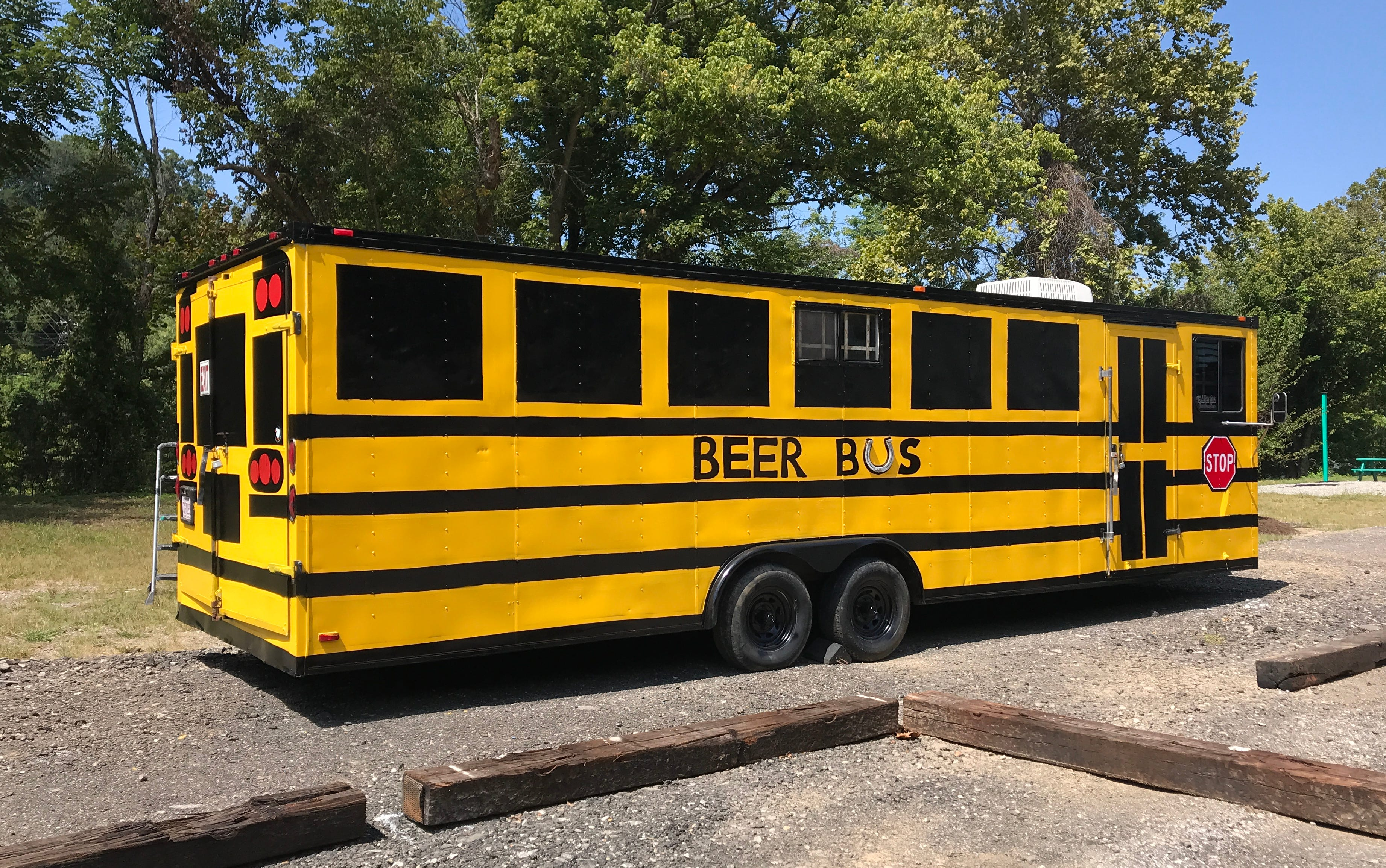 The Beer Bus is nearly ready to pour drinks and cocktails on the White Duck Taco Shop property.