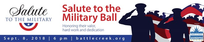 The Battle Creek Area Chamber of Commerce is holding its second Salute to the Military Ball on Saturday, Sept. 8, 2018.
