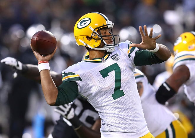 The Seahawks acquired quarterback Brett Hundley from the Green Bay Packers on Wednesday.