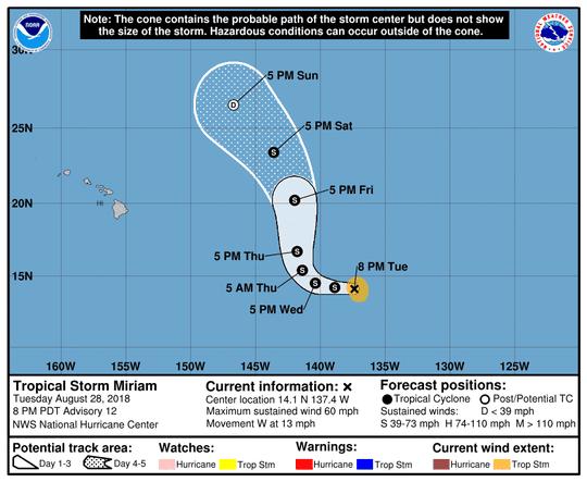 Tropical Storm Miriam