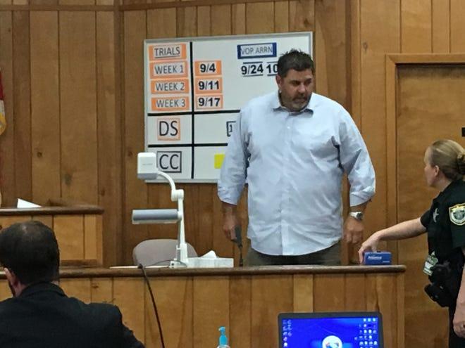 "John ""Casey"" Smith takes the stand during the immunity hearing for his accused shooter, Port St. John resident John DeRossett."