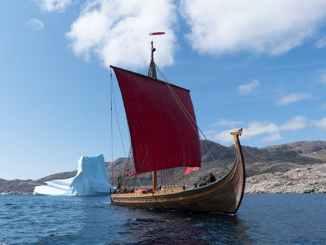 The Draken Harald, a replica Viking ship built in Norway, is sailing into Philadelphia this weekend for Labor Day weekend tours.