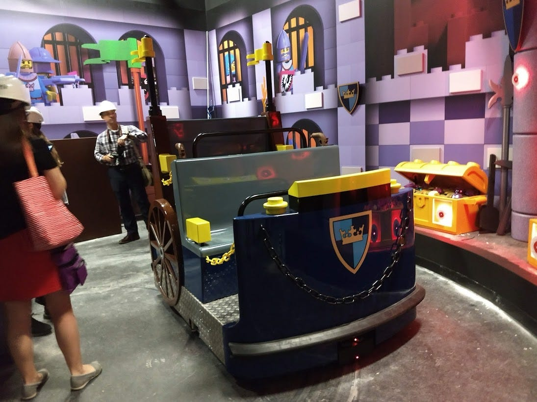 A carriage is shown from the Kingdom Quest ride Wednesday at LEGOLAND Discovery Center.