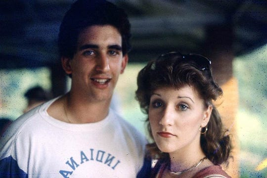 Renacci with his wife, Tina, while he was in college at Indiana University of Pennsylvania