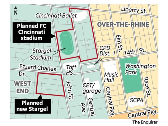 The footprint of FC Cincinnati stadium project has grown, and now includes property on West Liberty Street.