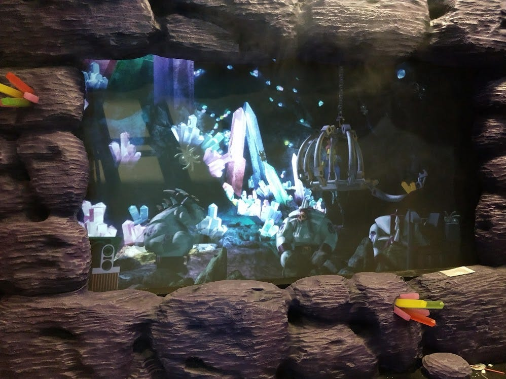 A scene is shown Wednesday on the Kingdom Quest ride at the LEGOLAND Discovery Center Columbus.