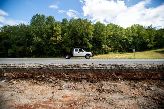 Construction begins for the additional lane so TDOT crews can divert traffic and dig up a persistent sinkhole on Interstate 24 between exits 8 and 11  Wednesday, Aug. 29, 2018, in Clarksville, Tenn.