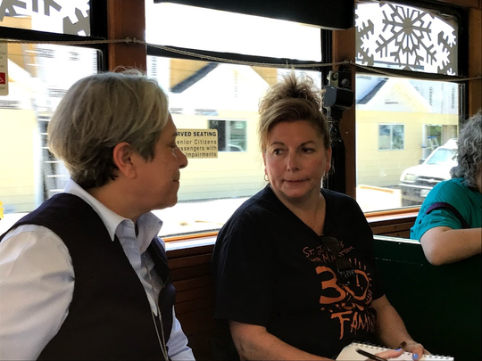 One of the highlights of the trip for Mary Beth DeLisi was the chance to speak with Sister Norma Pimentel. Pimentel's work with road-weary refugees at the Mexico border has been likened to Mother Teresa's work with the impoverished in India.