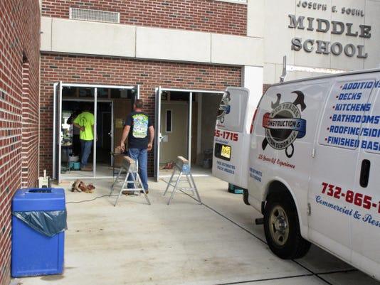 Double Doors At Soehl Middle School In Linden 4