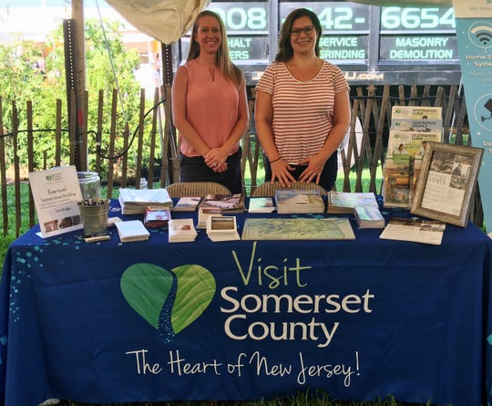 Jill Cerchio, director of sales at Hampton Inn & Suites in Bridgewater (left) andJacqueline Morales (right), director of Somerset County Tourism.