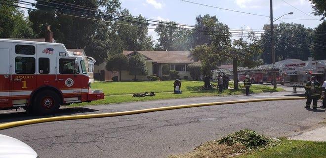 Plainfield house fire on Sherman Avenue