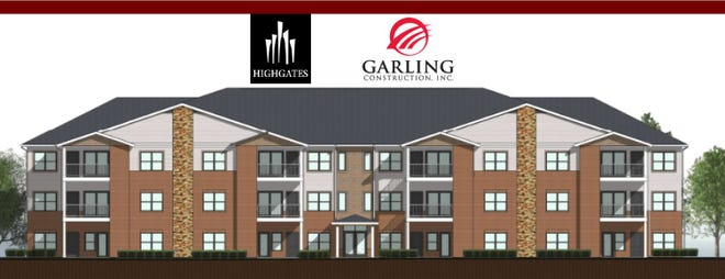 The Highgates Group will break ground on a new luxury apartment development in Altoona, on Wednesday. Named the Residences at Ironwood, the development will include two buildings, each including 24 two-bedroom apartments.