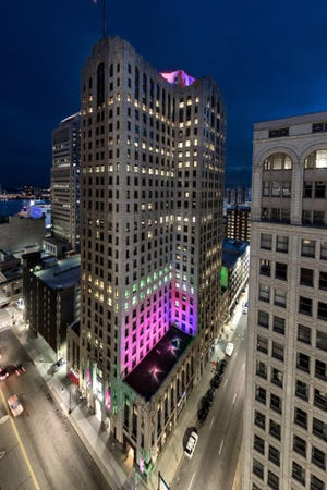 In remembrance of Aretha Franklin, Bedrock and other companies are lighting their Detroit buildings in pink each night until Aug. 31.
