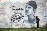 A look at the murals in Detroit recently put on the sides of buildings in honor of Aretha Franklin.