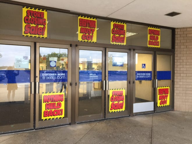 The Sears store at the Fairlane Town Center in Dearborn, Mich. is scheduled to close in early September 2018.