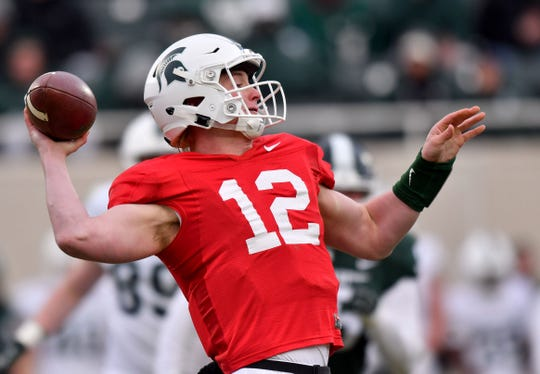 Michigan State backup quarterback Rocky Lombardi, a redshirt freshman, has yet to take a college snap.