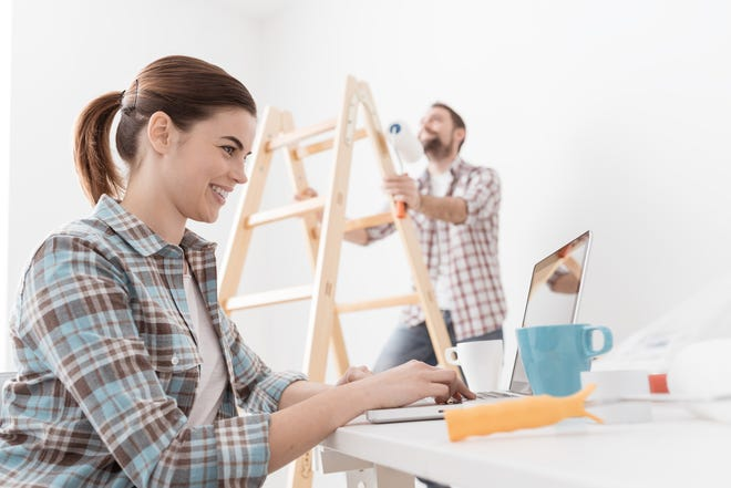 Doing finish painting yourself could shave a few percentage points off your total remodeling budget. (Dreamstime)