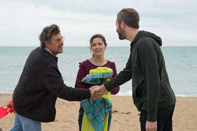 """Ethan Hawke, Rose Byrne and Chris O'Dowd in """"Juliet, Naked."""""""