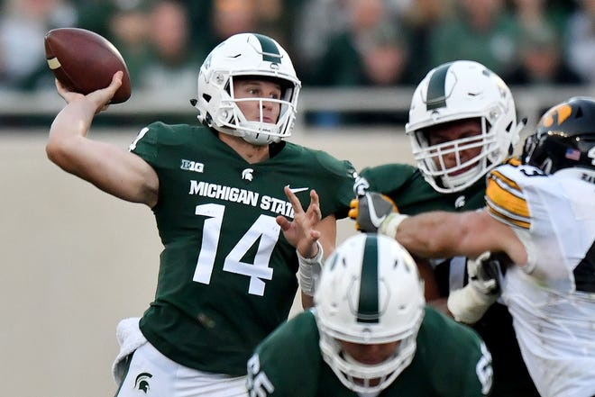 Michigan State quarterback Brian Lewerke could take a step forward this season if he improves his accuracy.