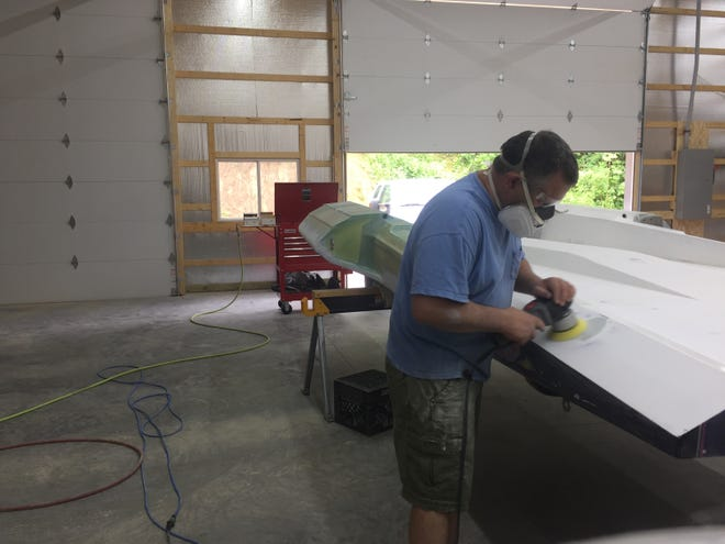 Overcoming a tornado, Dennis Wright will have a new boat ready for HydroFest