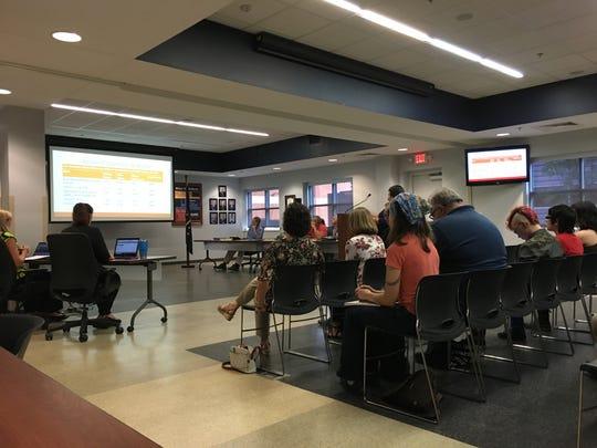 An Aug. 27 EVSC School Board meeting.