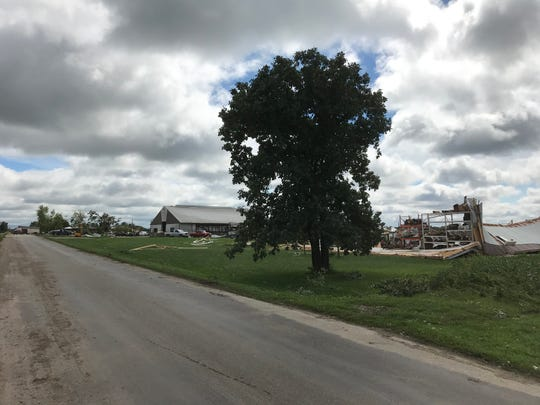 A tornado devastated the Wetzel family farm, located along Hemp Road in Brandon, on Aug. 28, 2018.