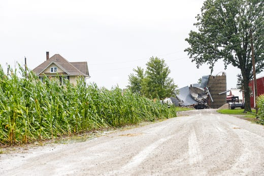 A barn was completely destroyed on August 28, 2018 at the intersection of Cattaraugus Road and Brown Road northeast of Waupun, Wisconsin. In the afternoon, there was heavy rain in Fond du Lac County with a possible tornado in some places.