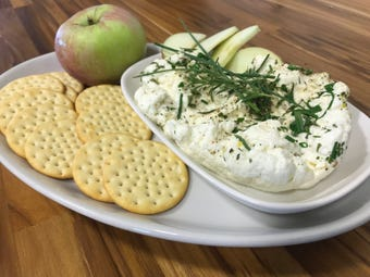 Farm Fusion cooking studio owner Dawn Broeder demonstrates how to make the soft cheese at home