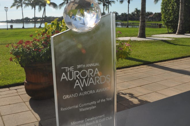 Miromar Lakes Beach & Golf Club won a Grand Aurora Award for Best Community of the Year. It's the community's 181st Aurora award.