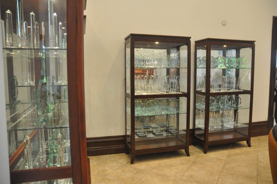 Miromar Lakes has won so many awards that they don't all fit in the cases.