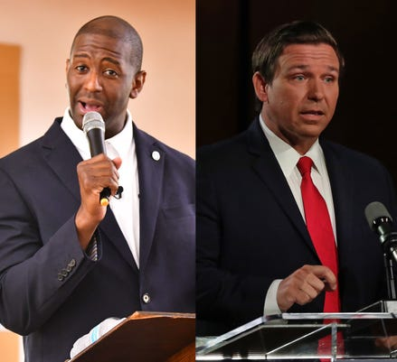 Andrew Gillum and Ron Desantis